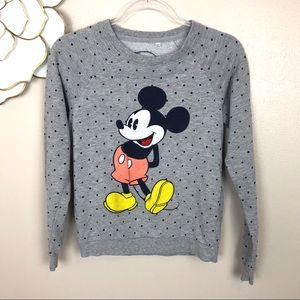 Disney Mickey Mouse sweatshirt polka dots